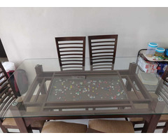 Glass Dining table set - Image 2/6