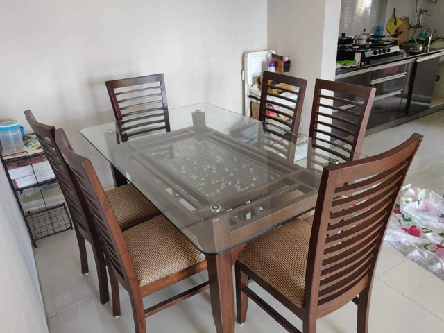 Glass Dining table set - 6/6