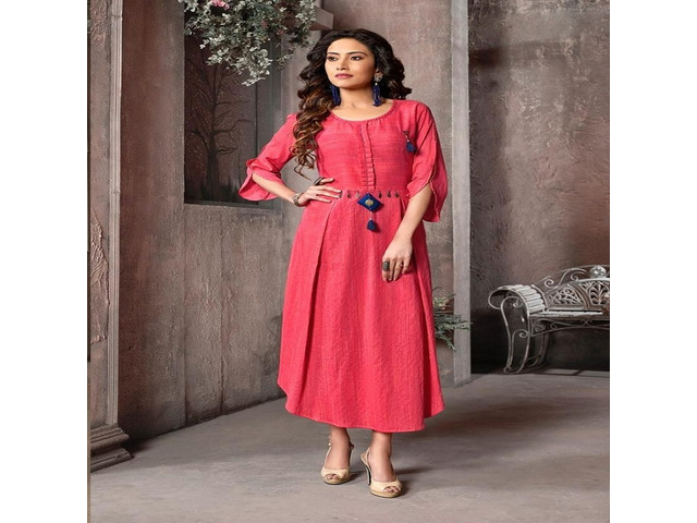 Buy Wholesale Long Kurtis Online Rate from Fab Funda - 1/1