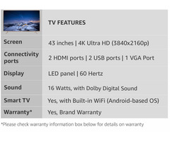 TCL 109.3 cm (43 inches) 4K Ultra HD Smart LED TV L43P2US (Golden) - Image 6/9