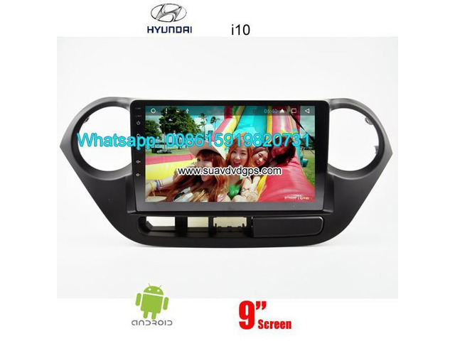 Hyundai i10 car audio radio android wifi GPS navigation camera - 1/4
