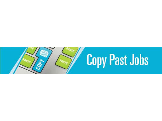 We are Hiring - Earn Rs.15000/- Per month - Simple Copy Paste Jobs - 9/10
