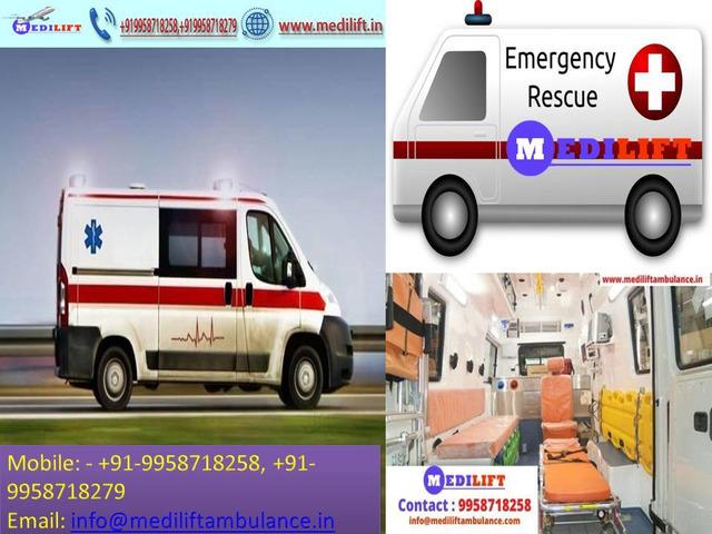 Life-Saving Ambulance in Varanasi at Low Fare by Medilift - 1/1