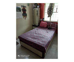 Wooden Bed 4x6.6 Feet with mattress - Image 2/2