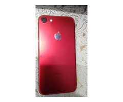 IPHONE 7, RED/WHITE, 128GB, SCRATCHLESS, WITH CHARGER AND BOX - Image 1/5