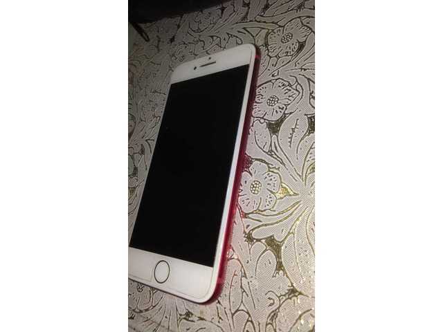 IPHONE 7, RED/WHITE, 128GB, SCRATCHLESS, WITH CHARGER AND BOX - 2/5