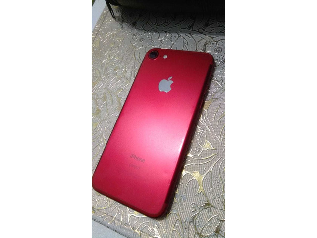IPHONE 7, RED/WHITE, 128GB, SCRATCHLESS, WITH CHARGER AND BOX - 5/5