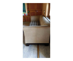 Comfortable 5 seater sofa set with cushions in good condition. - Image 1/4