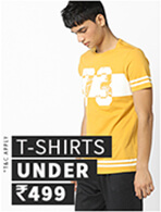 T-SHIRTS  UNDER Rs.499