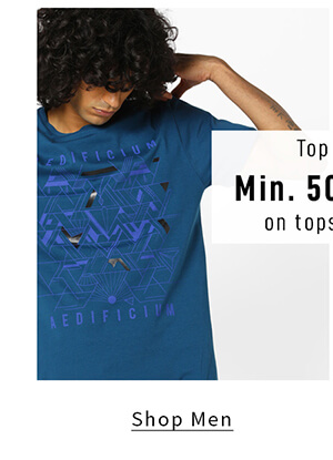 Min 50% off on Must Haves - Top up! - Shop Men
