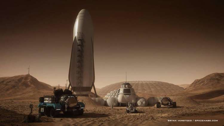 The Beginning Of Mars Colonization: SpaceX Interplanetary Transport System