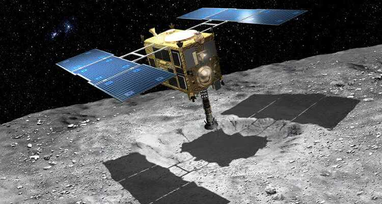 The Japanese Hayabusa-2 probes arrive at Asteroid Ryugu