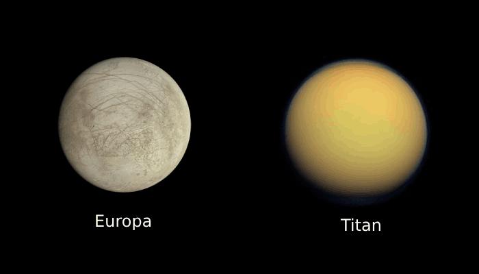 Titan & Europa