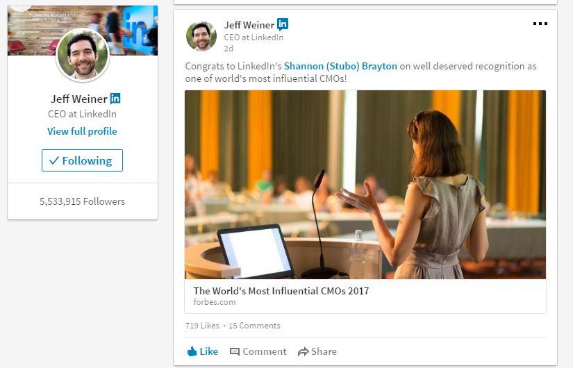 LinkedIn CMO
