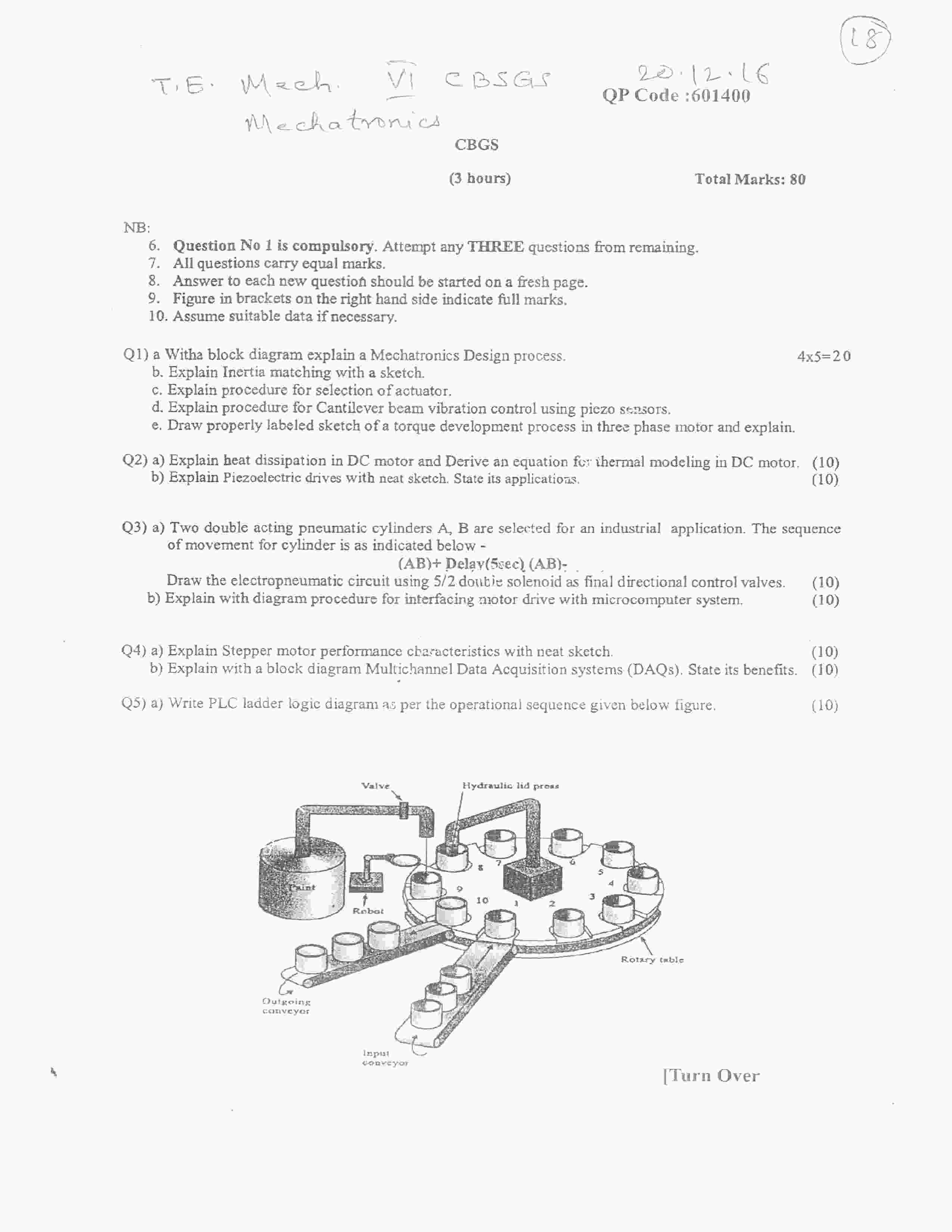 Mechatronics question paper dec 2016 mechanical engineering mechatronics question paper dec 2016 mechanical engineering semester 6 mumbai university malvernweather Gallery