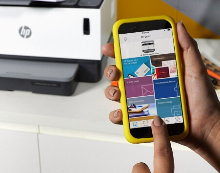 Print, scan, and copy from virtually anywhere with the HP Smart App.