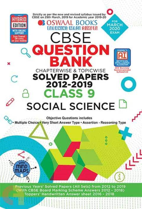Oswaal CBSE Question Bank Class 9 Social Science Book Chapterwise & Topicwise Includes Objective Types & MCQ's