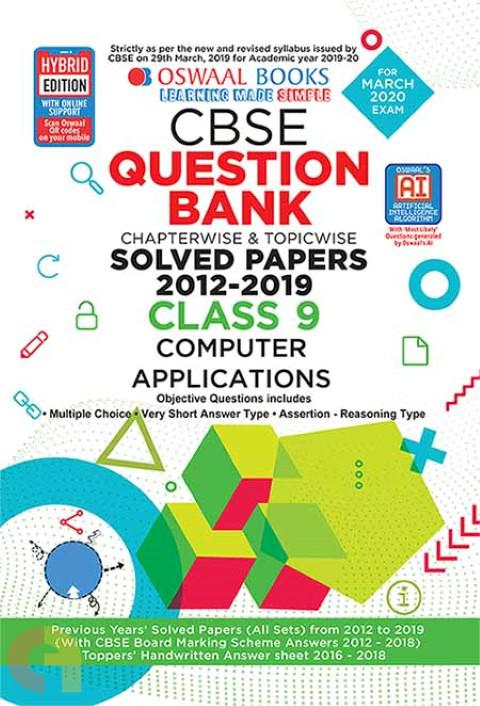 Oswaal CBSE Question Bank Class 9 Computer Applications Book Chapterwise & Topicwise