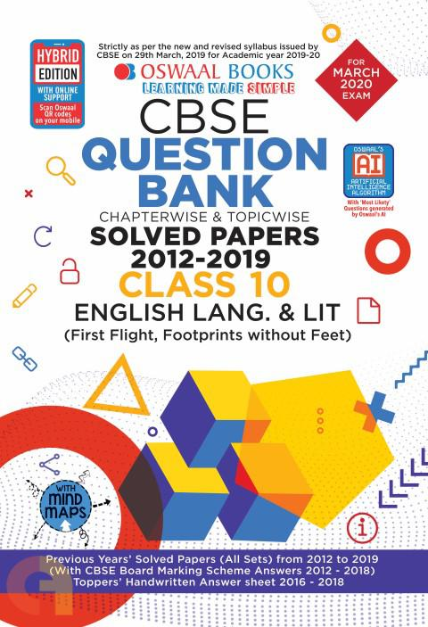 Oswaal CBSE Question Bank Class 10 English Language & Literature Book Chapterwise & Topicwise Includes Objective Types & MCQ's