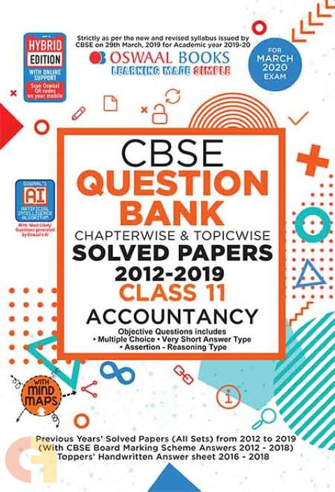 Oswaal CBSE Question Bank Class 11 Accountancy Book Chapterwise & Topicwise Includes Objective Types & MCQ's