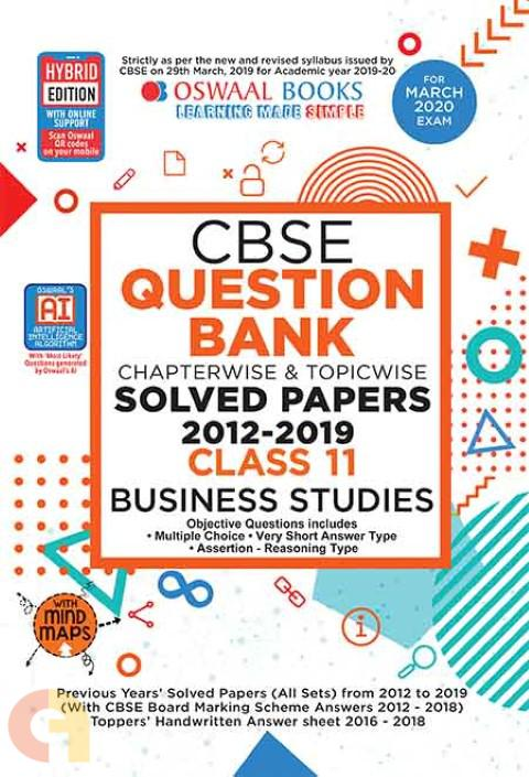 Oswaal CBSE Question Bank Class 11 Business Studies Book Chapterwise & Topicwise Includes Objective Types & MCQ's