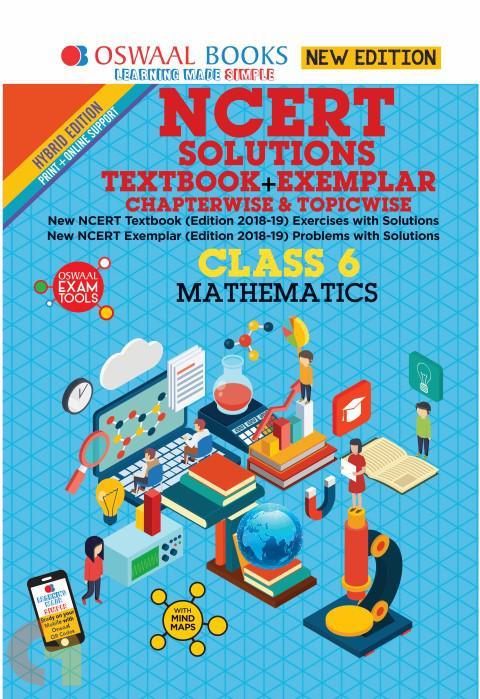 Oswaal NCERT Problems - Solutions (Textbook + Exemplar) Class 6 Mathematics Book