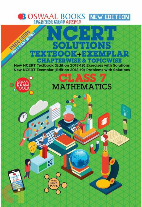Oswaal NCERT Problems - Solutions (Textbook + Exemplar) Class 7 Mathematics Book