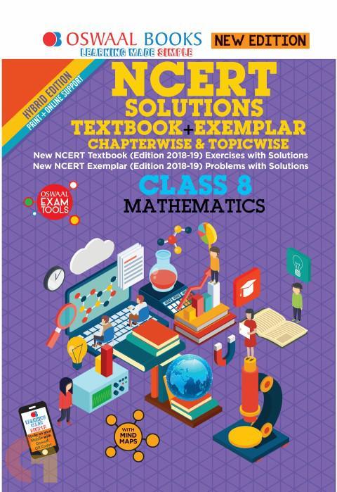 Oswaal NCERT Problems - Solutions (Textbook + Exemplar) Class 8 Mathematics Book