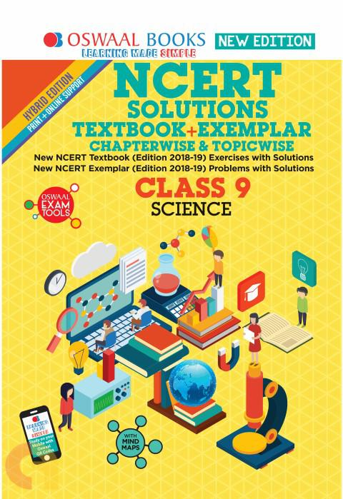 Oswaal NCERT Problems - Solutions (Textbook + Exemplar) Class 9 Science Book