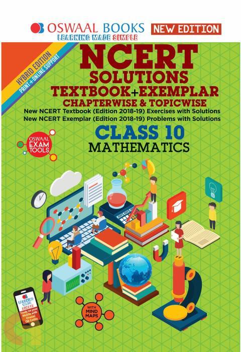Oswaal NCERT Problems - Solutions (Textbook + Exemplar) Class 10 Mathematics Book