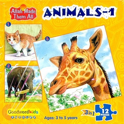 Animals 1 - Box of Three Puzzles