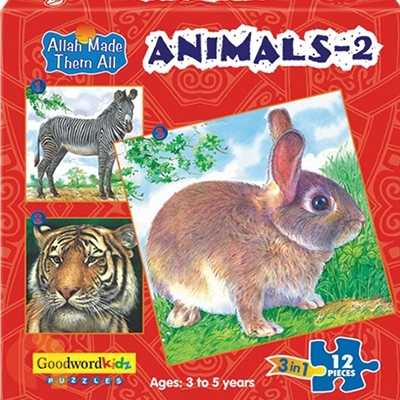 Animals 2 - Box of Three Puzzles