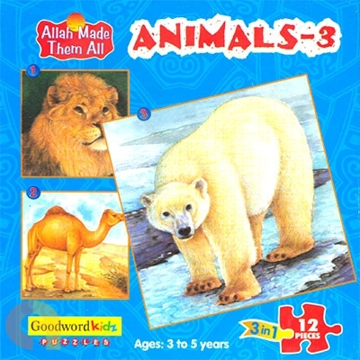 Animals 3 - Box of Three Puzzles