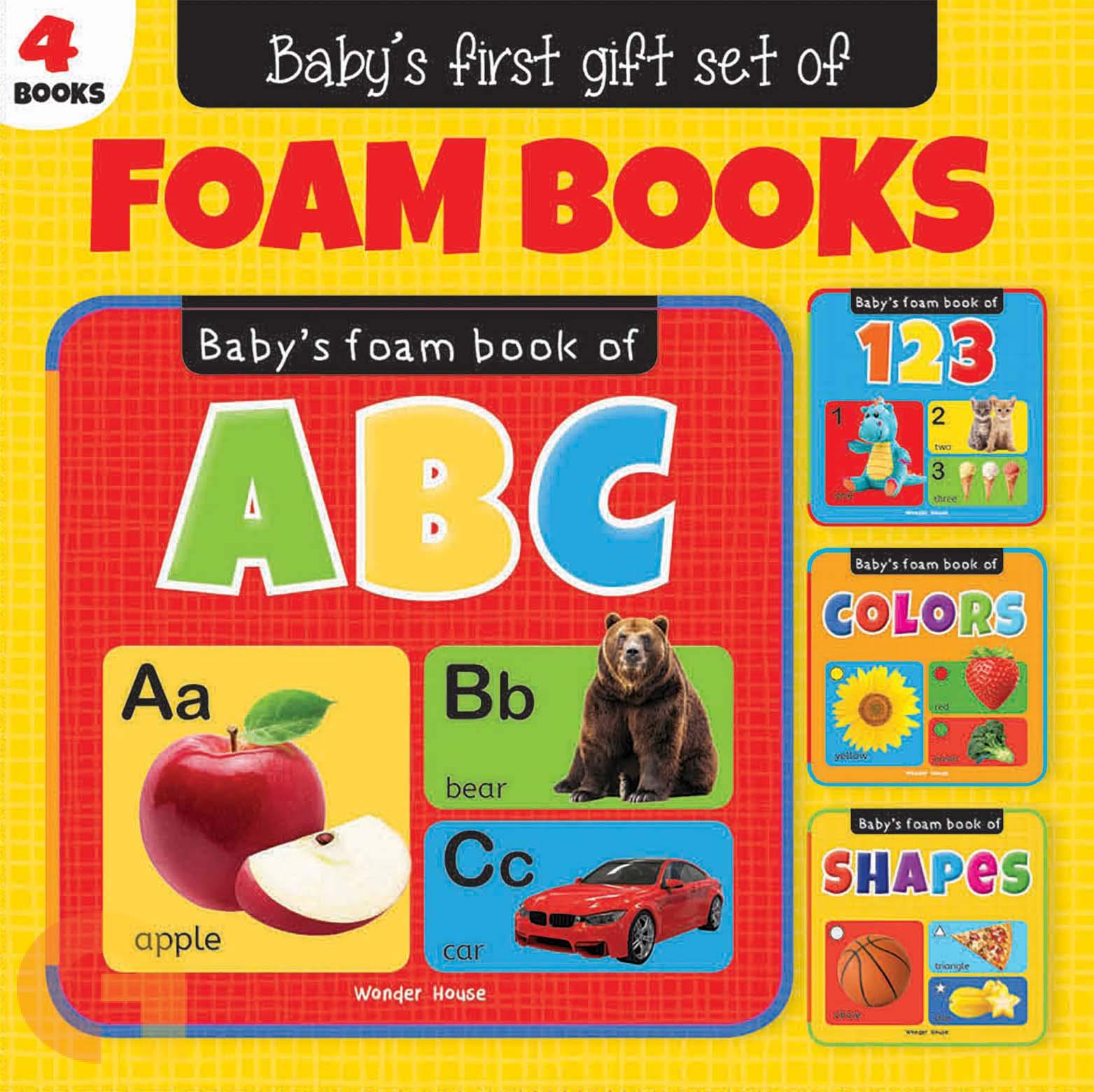 Babys First Gift Set of Foam Books