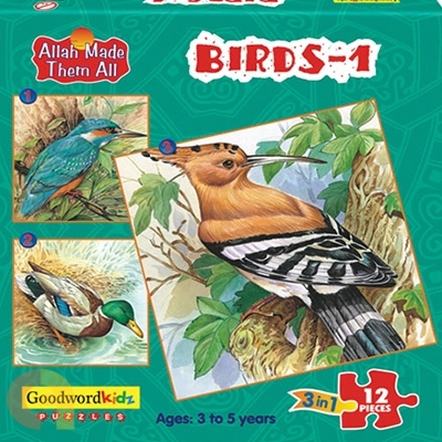 Birds 1 - Box of Three Puzzles