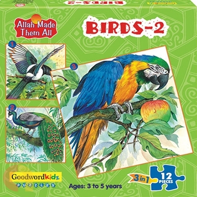 Birds 2 - Box of Three Puzzles
