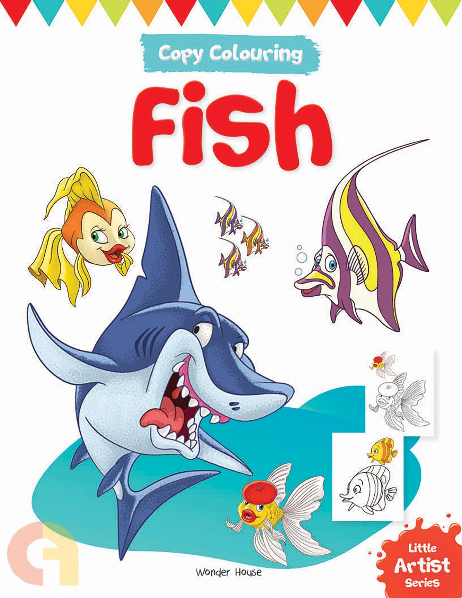Copy Colouring: Fish