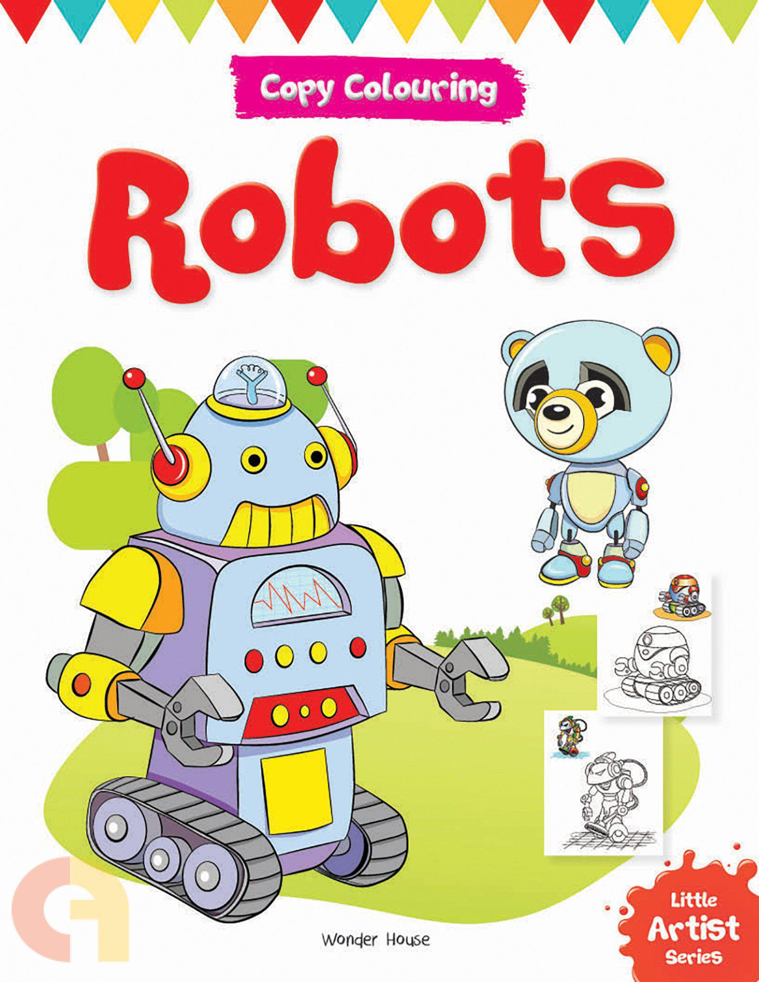 Copy Colouring: Robots