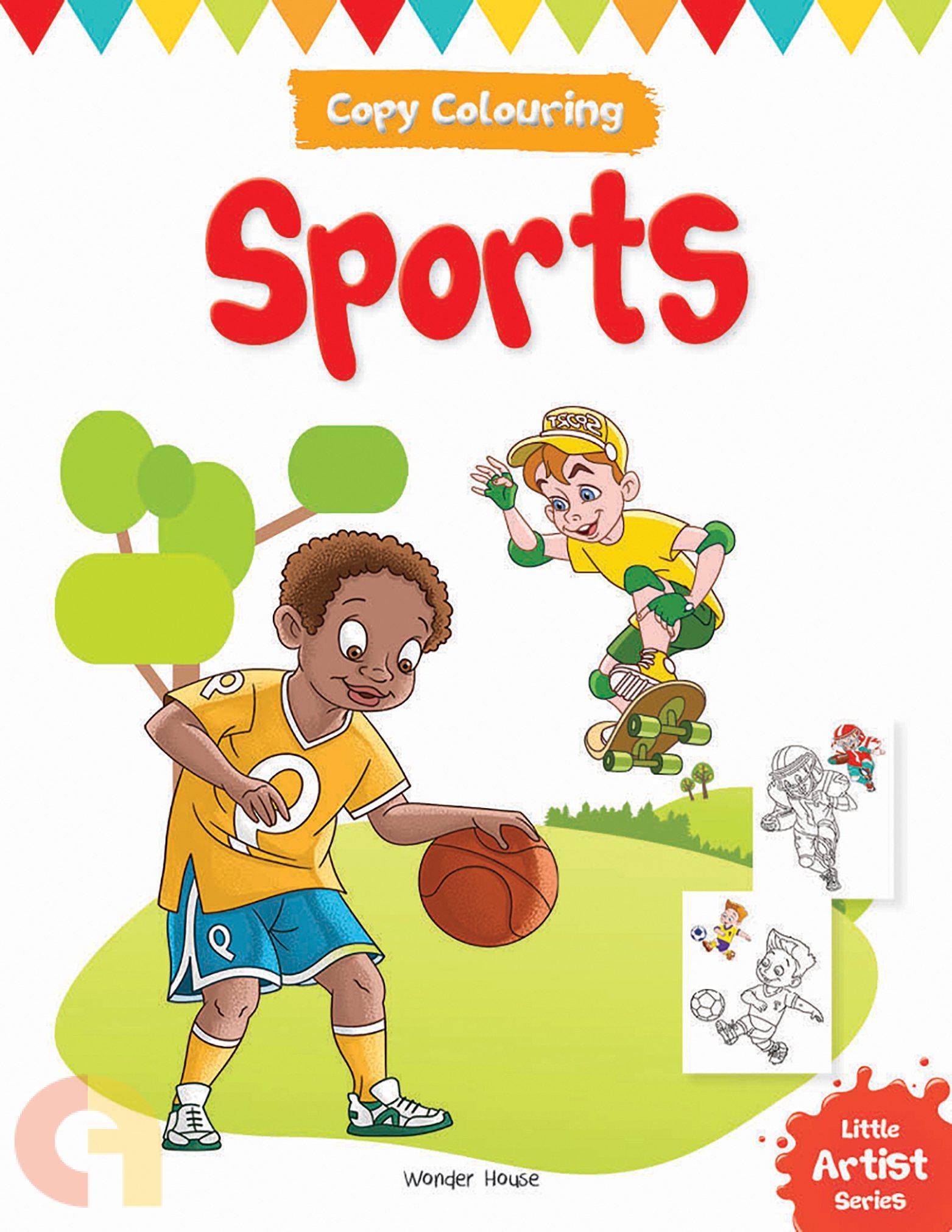 Copy Colouring: Sports