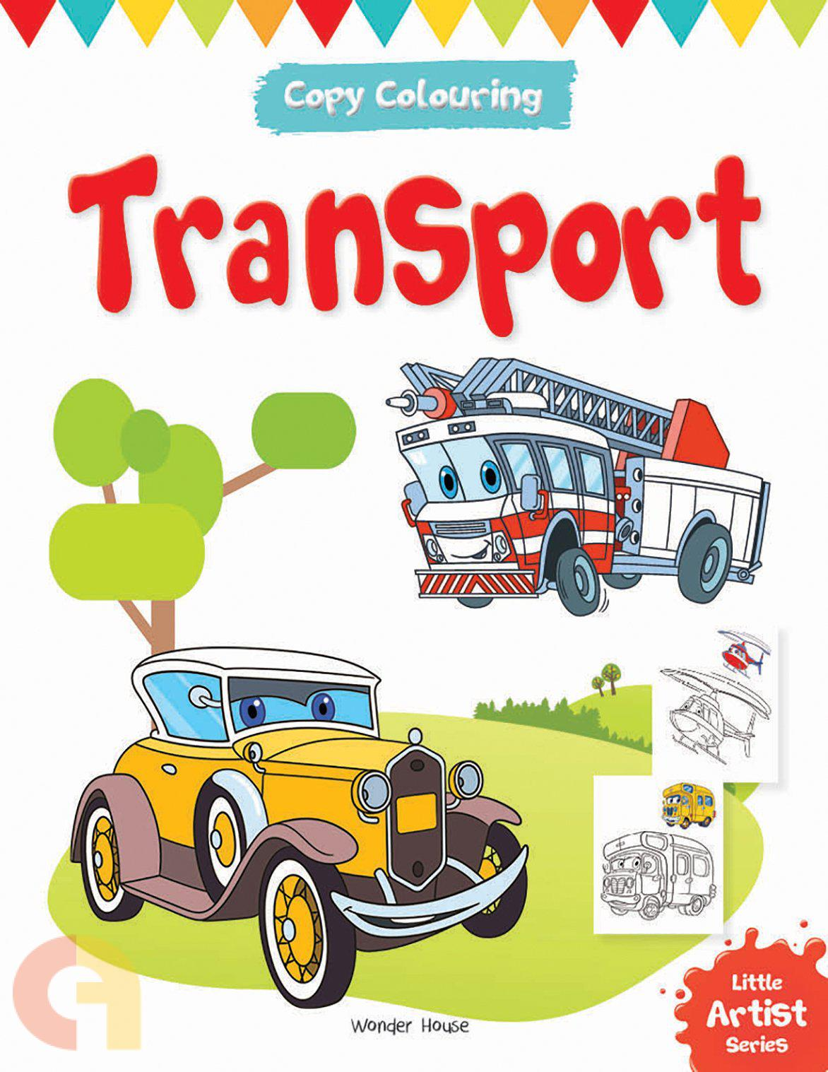 Copy Colouring: Transport