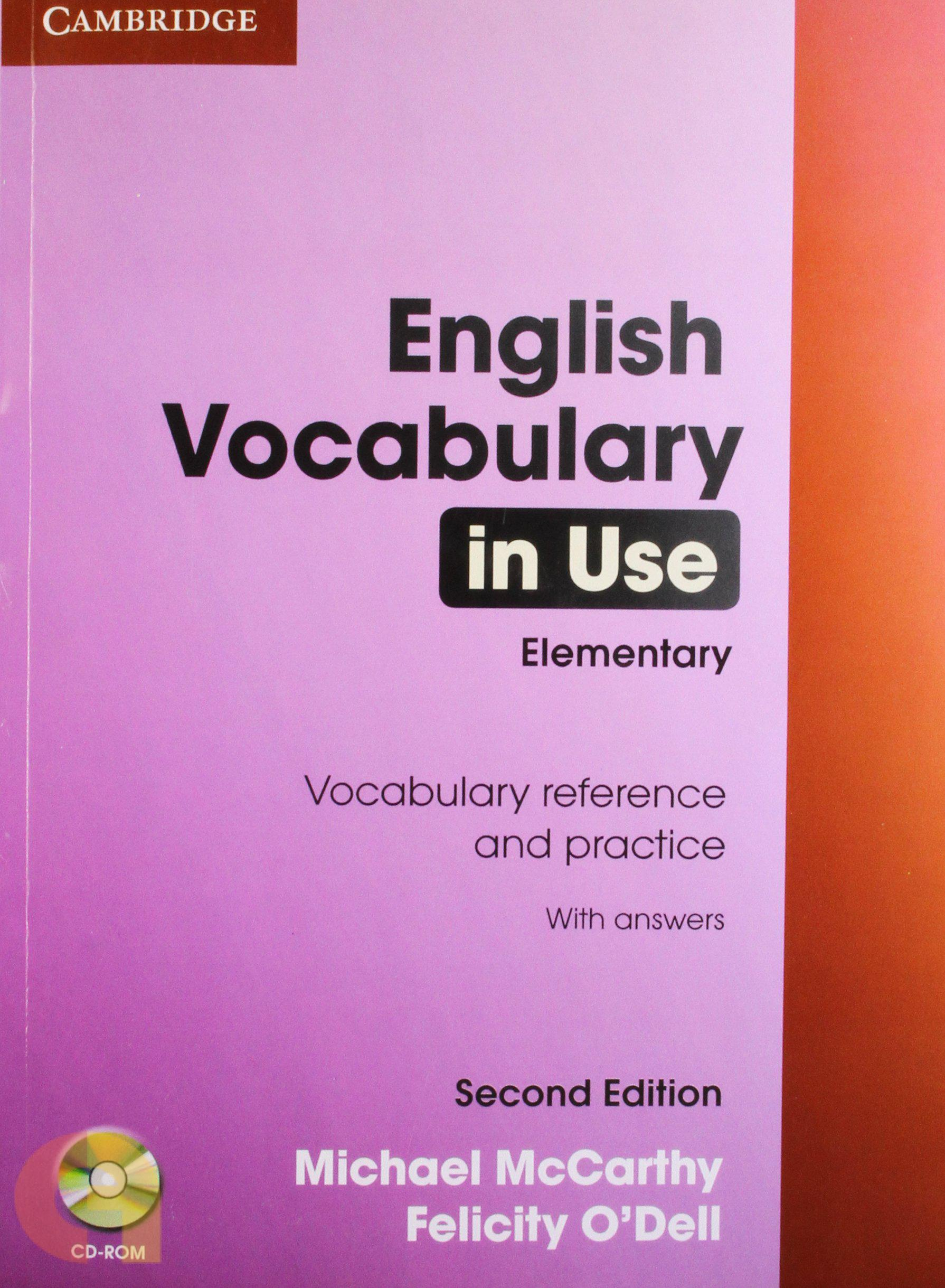 English Vocabulary in Use Elementary Book with Ans and CD ROM 2nd edn