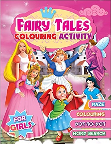 Fairy Tales Colouring Activity (For Girls)