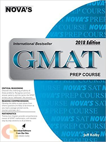GMAT PREP COURSE 2018 EDITION