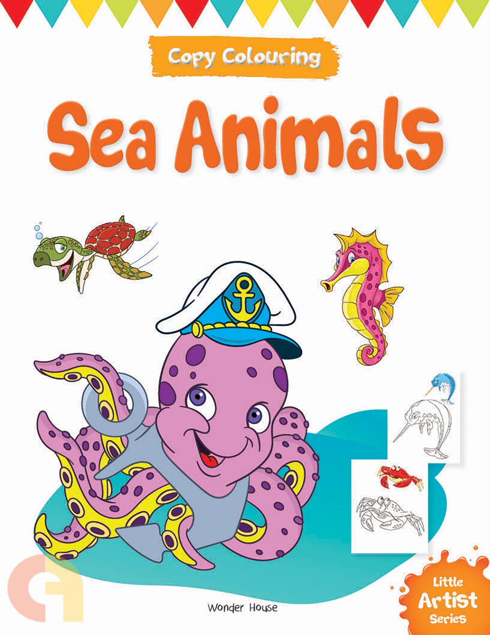 Copy Colouring: Sea Animals :  Books