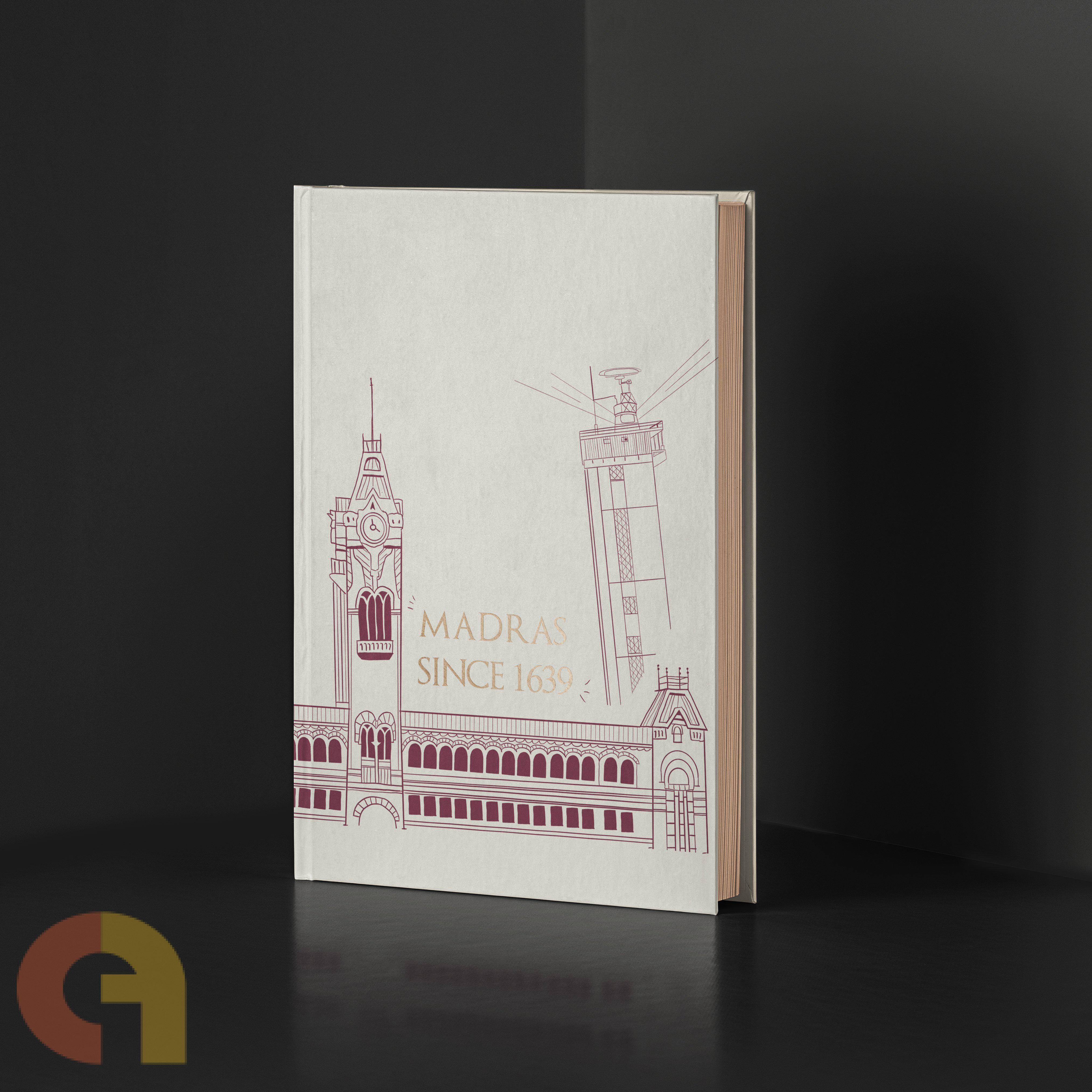 Madras Journal (Dotted Bullet Journal; Hard bound; 120 pages - B6)