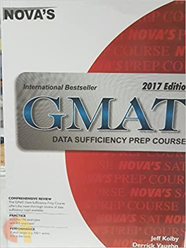 Nova's Gmat Data Sufficiency Prep Course - 2017
