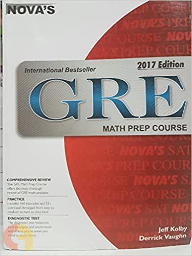 Nova's Gre Math Prep Course 2017 Ed