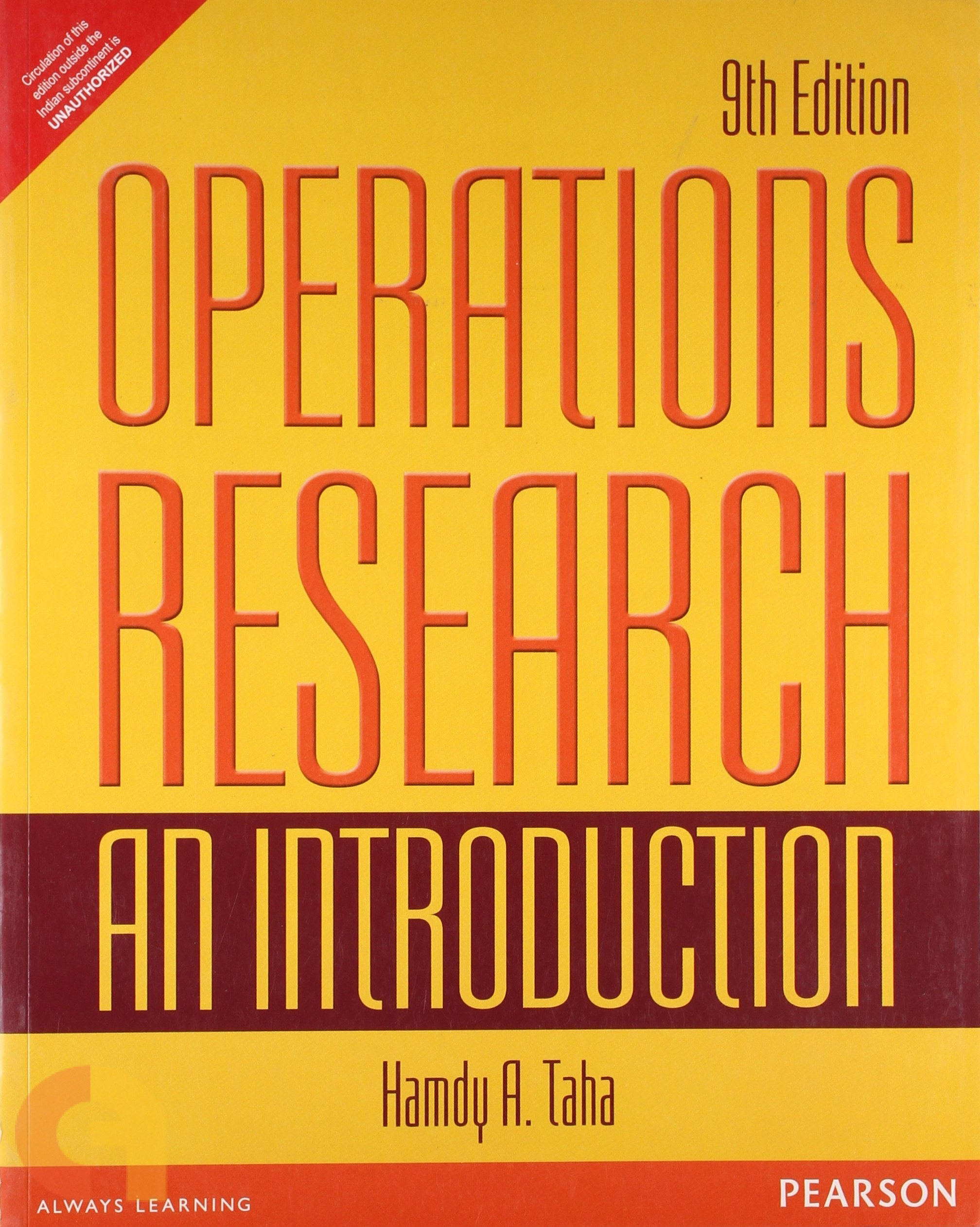 Operations Research: An Introduction (9e)