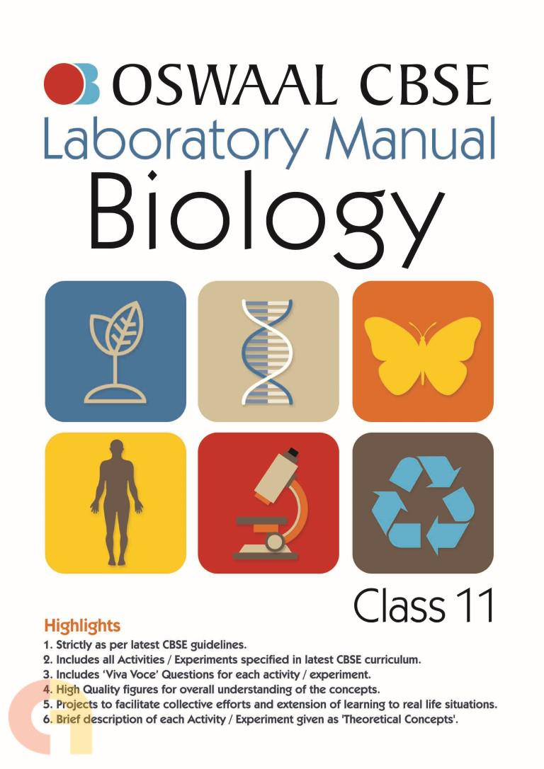 Oswaal CBSE Laboratory Manual Class 11 Biology Book