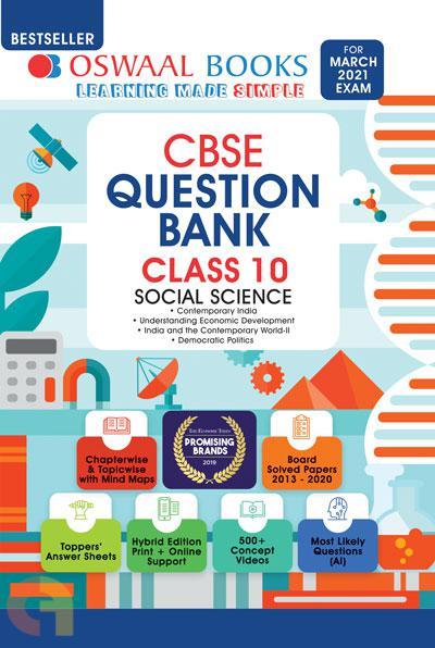 Oswaal CBSE Question Bank Class 10 Social Science Book Chapterwise & Topicwise Includes Objective Types & MCQ's